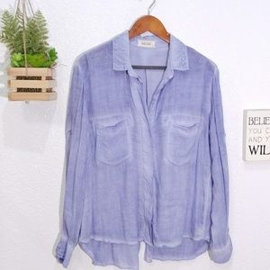 Bella Dahl  Split Back Button Down Shirt size S